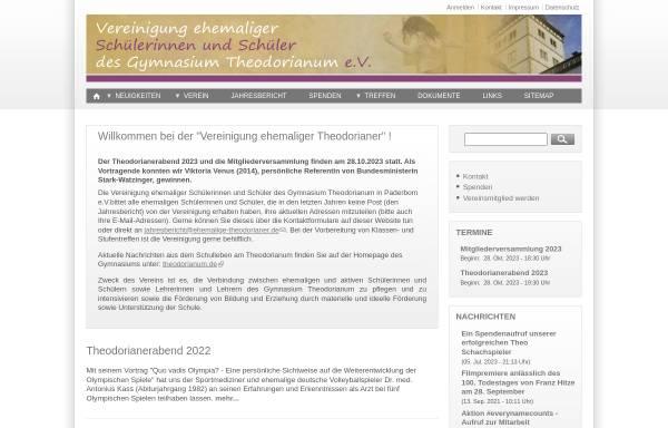 Vorschau von www.ehemalige-theodorianer.de, Paderborn - Verein ehemaliger Schüler des Gymnasium Theodorianum