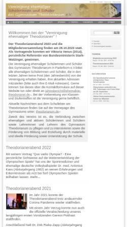 Vorschau der mobilen Webseite www.ehemalige-theodorianer.de, Paderborn - Verein ehemaliger Schüler des Gymnasium Theodorianum