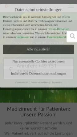Vorschau der mobilen Webseite fachanwaeltemedizinrecht.de, Beyerlin & Beyerlin-Marschner