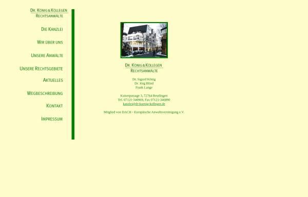 Vorschau von www.blind-koenig.de, Dr. Blind & Dr. König
