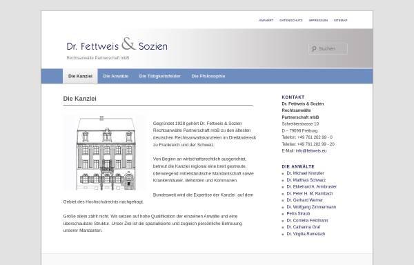 Vorschau von www.fettweis-sozien.com, Dr. Fettweis & Sozien