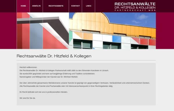 Vorschau von www.rechtsanwaelte-hitzfeld.de, Dr. Hitzfeld & Kollegen
