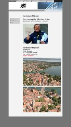 Vorschau der mobilen Webseite www.kanzlei-am-muenster.de, Dr. Krähe & Lindner