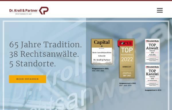 Vorschau von www.kp-recht.de, Dr. Kroll & Partner