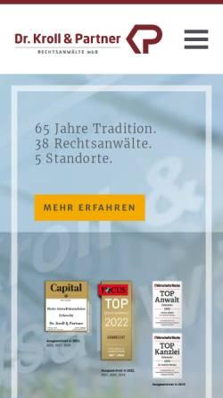 Vorschau der mobilen Webseite www.kp-recht.de, Dr. Kroll & Partner