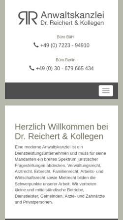 Vorschau der mobilen Webseite www.reichert-recht.de, Dr. Reichert & Kollegen