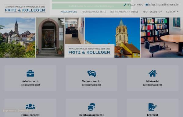 Vorschau von www.fritz-rechtsanwalt-rottweil.de, Fritz & Kollegen