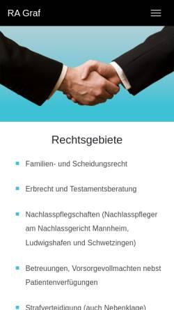 Vorschau der mobilen Webseite www.graf-rechtsanwalt.de, Graf Manfred-Andreas