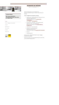Vorschau der mobilen Webseite www.hanack-ibrahim.de, Hanack & Ibrahim