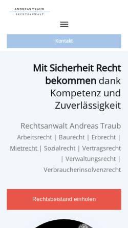 Vorschau der mobilen Webseite www.rechtsanwalt-harth.de, Harth & Graße