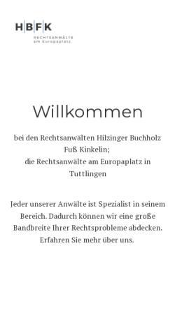Vorschau der mobilen Webseite www.ra-hilzinger.de, Hilzinger Tom C.