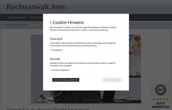 Vorschau von www.rechtsanwalt-joos.de, Joos Achim