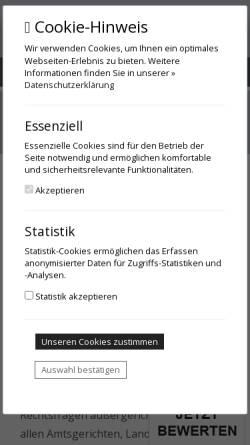 Vorschau der mobilen Webseite www.rechtsanwalt-joos.de, Joos Achim