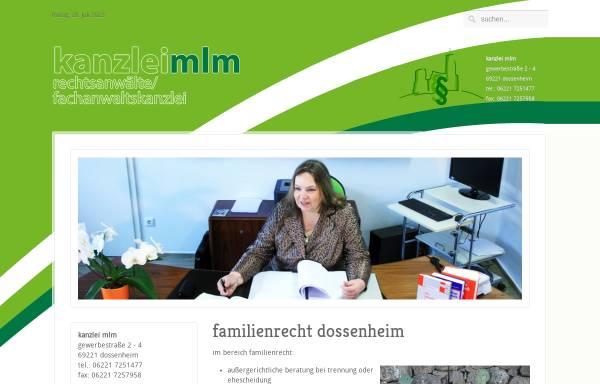 Vorschau von www.kanzlei-kblm.de, Kaminsky-Bernhard, Beate und Leferenz-Müller, Stephanie
