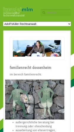 Vorschau der mobilen Webseite www.kanzlei-kblm.de, Kaminsky-Bernhard, Beate und Leferenz-Müller, Stephanie