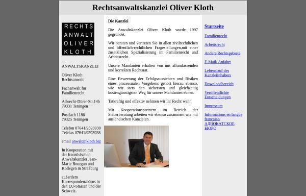 Vorschau von www.kloth.biz, Kloth Oliver
