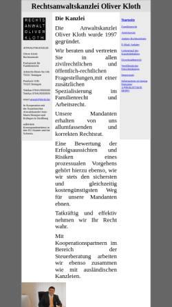 Vorschau der mobilen Webseite www.kloth.biz, Kloth Oliver