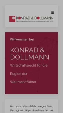 Vorschau der mobilen Webseite www.konrad-rechtsanwaelte.de, Konrad Rechtsanwälte