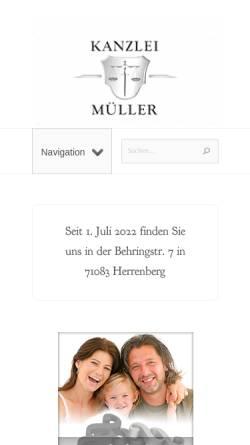 Vorschau der mobilen Webseite www.kanzlei-mueller.net, Müller Britta Maria