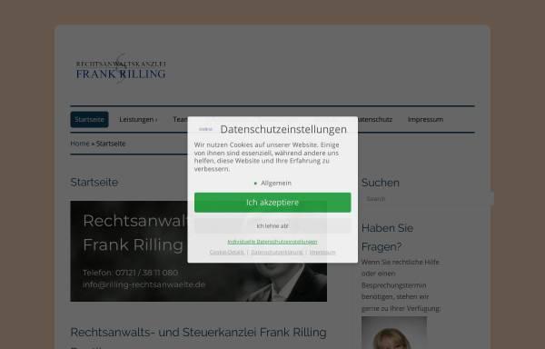 Vorschau von www.rilling-rechtsanwaelte.de, Rilling & Coll.