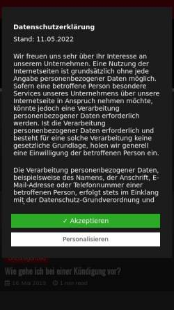 Vorschau der mobilen Webseite www.anwalt2004ras.de, Spohrer & Kollegen