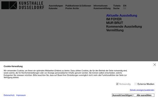 Vorschau von www.kunsthalle-duesseldorf.de, Kunsthalle
