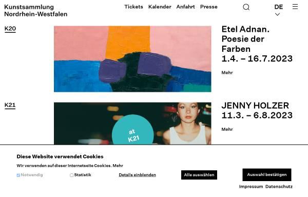 Vorschau von www.kunstsammlung.de, Kunstsammlung Nordrhein-Westfalen