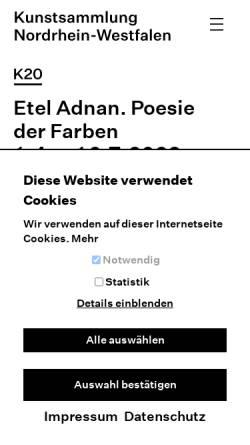 Vorschau der mobilen Webseite www.kunstsammlung.de, Kunstsammlung Nordrhein-Westfalen