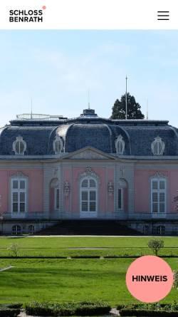 Vorschau der mobilen Webseite www.schloss-benrath.de, Museum für Naturkunde