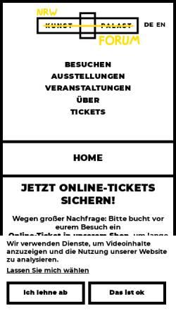 Vorschau der mobilen Webseite www.nrw-forum.de, NRW-Forum