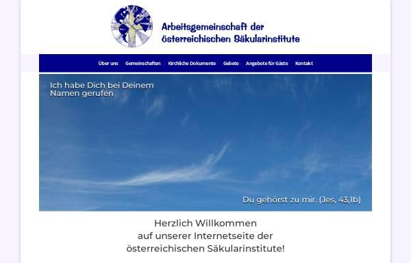 Vorschau von www.saekularinstitute.at, Arbeitsgemeinschaft der österreichischen Säkularinstitute