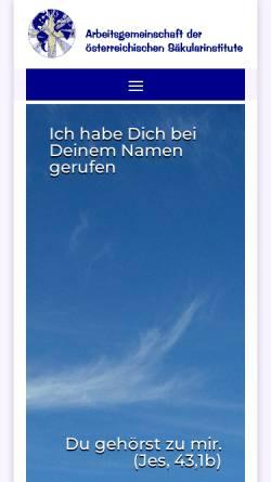 Vorschau der mobilen Webseite www.saekularinstitute.at, Arbeitsgemeinschaft der österreichischen Säkularinstitute