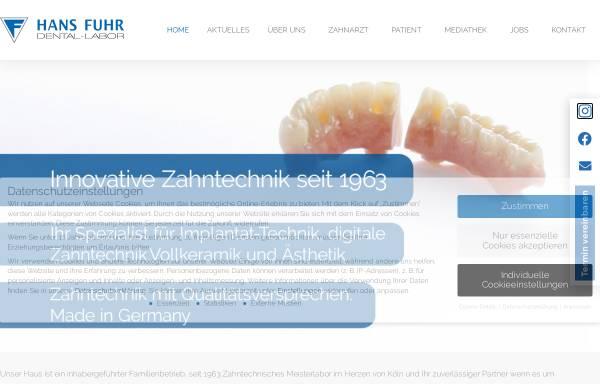 Vorschau von www.dentallabor.de, Dental-Labor Hans Fuhr GmbH & Co. KG