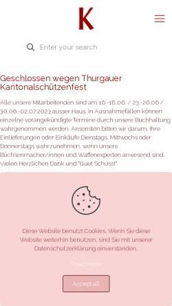 Vorschau der mobilen Webseite www.kesslerauktionen.ch, Kessler Auktionen GmbH