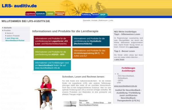 Vorschau von www.lrs-auditiv.de, Easylearn