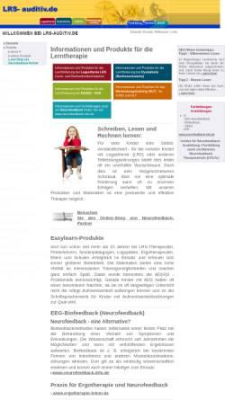 Vorschau der mobilen Webseite www.lrs-auditiv.de, Easylearn