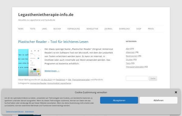 Vorschau von www.legasthenietherapie-info.de, Legasthenietherapie-Info