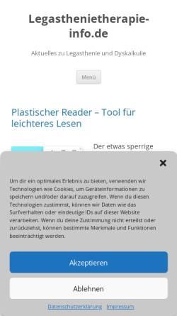 Vorschau der mobilen Webseite www.legasthenietherapie-info.de, Legasthenietherapie-Info