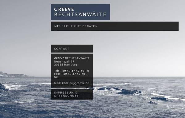 Vorschau von www.greeve.de, Greeve Rechtsanwälte
