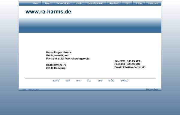 Vorschau von www.ra-harms.de, Harms Hans-Jürgen