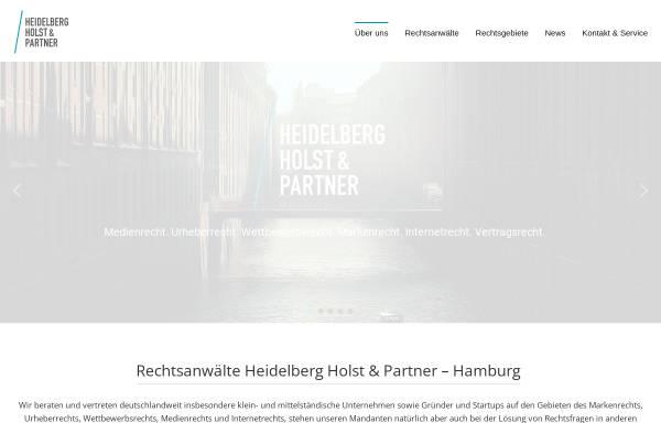 Vorschau von www.heidelberg-holst.de, Heidelberg Holst & Partner