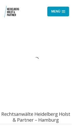 Vorschau der mobilen Webseite www.heidelberg-holst.de, Heidelberg Holst & Partner