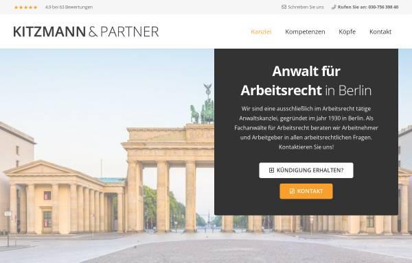 Vorschau von www.kitzmann.com, KITZMANN & PARTER Rechtsanwälte