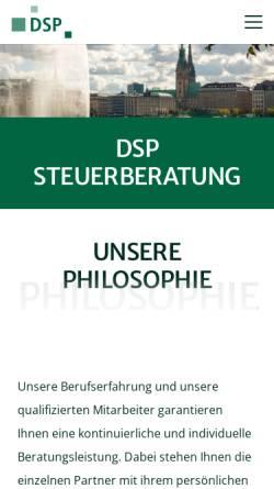 Vorschau der mobilen Webseite www.dsp-kanzlei.de, SLW Dr. Schmitz und Partner