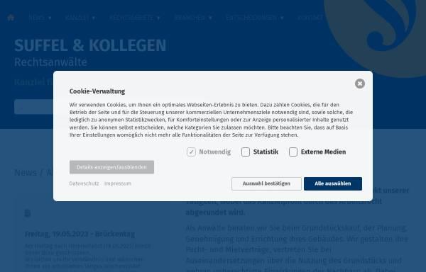 Vorschau von www.jenanwalt.de, Suffel & Kollegen