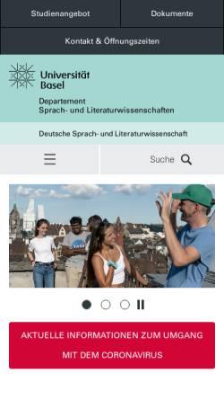 Vorschau der mobilen Webseite germa.unibas.ch, Deutsches Seminar der Universität Basel
