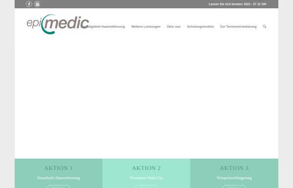 Vorschau von www.epimedic.de, Epimedic - Institut für dauerhafte Haarentfernung