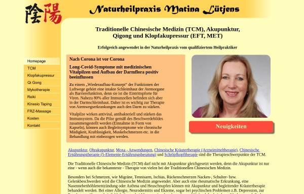 Vorschau von tcm-luetjens.de, Matina Lütjens