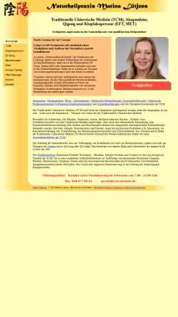 Vorschau der mobilen Webseite tcm-luetjens.de, Matina Lütjens