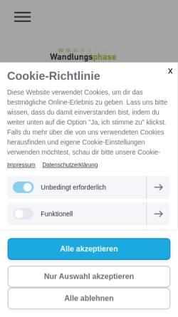 Vorschau der mobilen Webseite www.wandlungsphase.de, Praxis Wandlungsphase